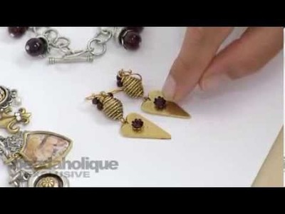 How to Make a Fancy Link Using Bead Caps, Crystal Clay, and Chatons by Becky Nunn