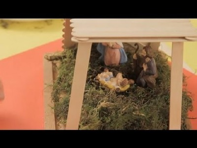 How to make a manger for the Christmas tree : Christmas crafts for the whole family