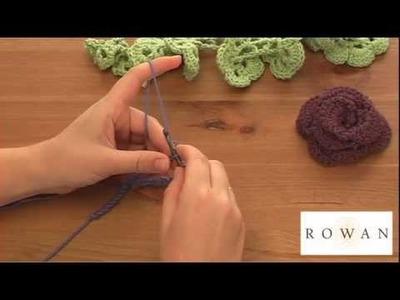 How to make crochet flowers (1), with Rowan Yarns and Dragon Yarns
