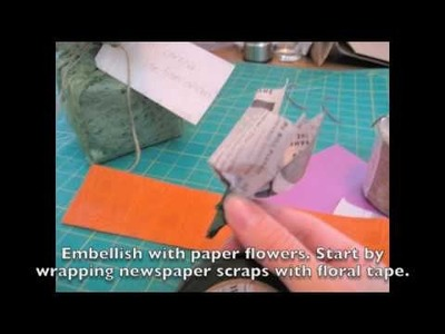 How To Make DIY Flowery GIft Wrap