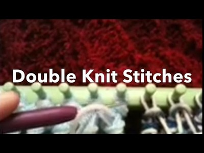 Loom Knit: Double Knit Stitches side by side, Rib & Twisted Knit. Figure 8