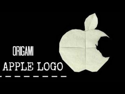 Origami Apple Logo Tutorial (Steve Jobs Face)
