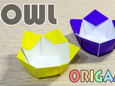 Origami Bowl : How to make a paper flower bowl