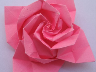 Origami tutorial: Rose