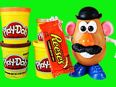 Play Doh Candy Reeses Peanut Butter Cup Tutorial with Toy Story 3 Mr Potato Head