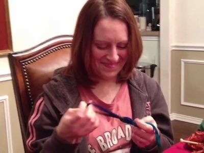 Ruffle Rope Scarf Fun at Knit Night