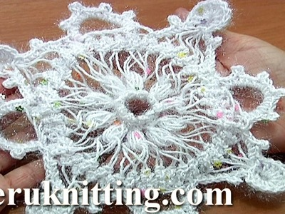 Snowflake Ornament Hairpin Crochet Tutorial 7 Part 2 of 2 Christmas Decoration