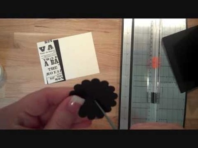 Stampin' Up! Scallop Punch to Make Flowers