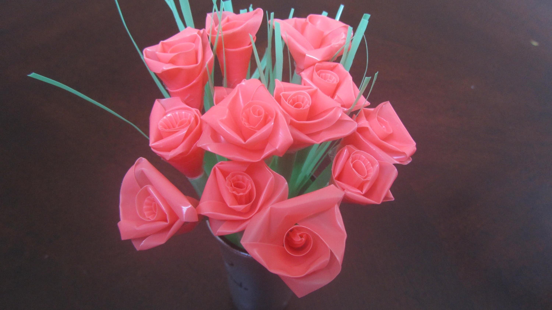 Straw rose tutorial (ribbon rose method)