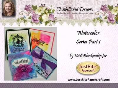 Watercolor Series Part 1 - Creating Designer Watercolor Paper with Distress Inks.Markers