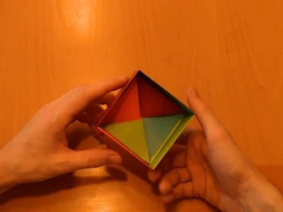 01 Origami: (e) Tutorial gift box, 4 colour boxes