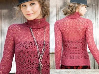 #15 Lace Turtleneck, Vogue Knitting Fall 2010