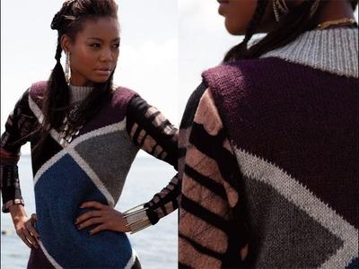 #17 Diamond Block Dress, Vogue Knitting Fall 2013