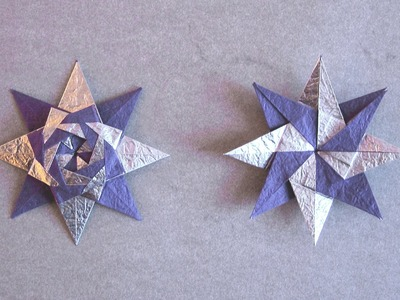 Christmas Origami Instructions: Braided Star (Maria Sinayskaya)