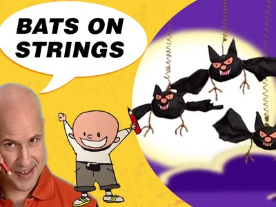 Crafts Ideas for Kids - Bats on Strings | DIY on BoxYourSelf