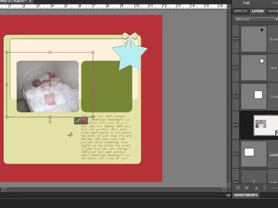 Create a Scrapbook Layout from a Template