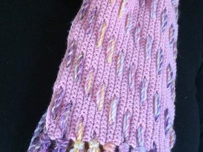 Crochet a Single Crochet Diagonal Woven Scarf