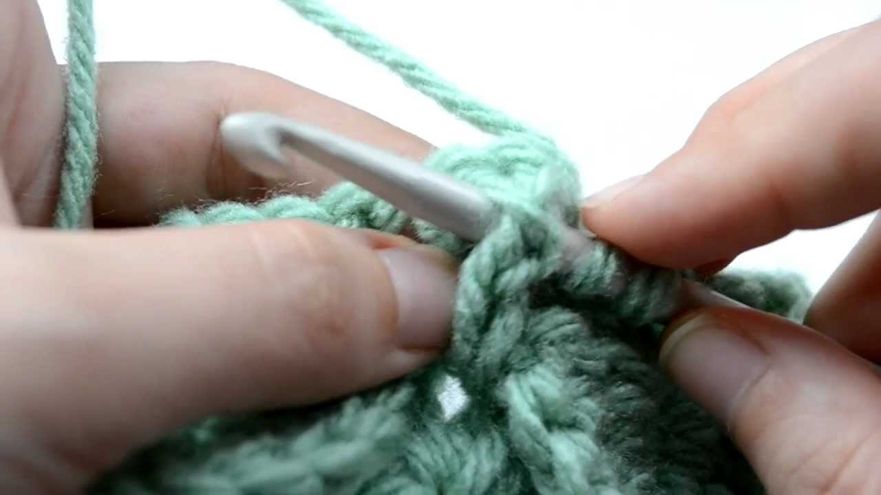Crochet Lessons - How to work the Crocodile Stitch - Part 6