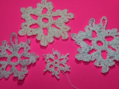 #Crochet snowflake  (Cope de nieve) subtitulos en Espanol