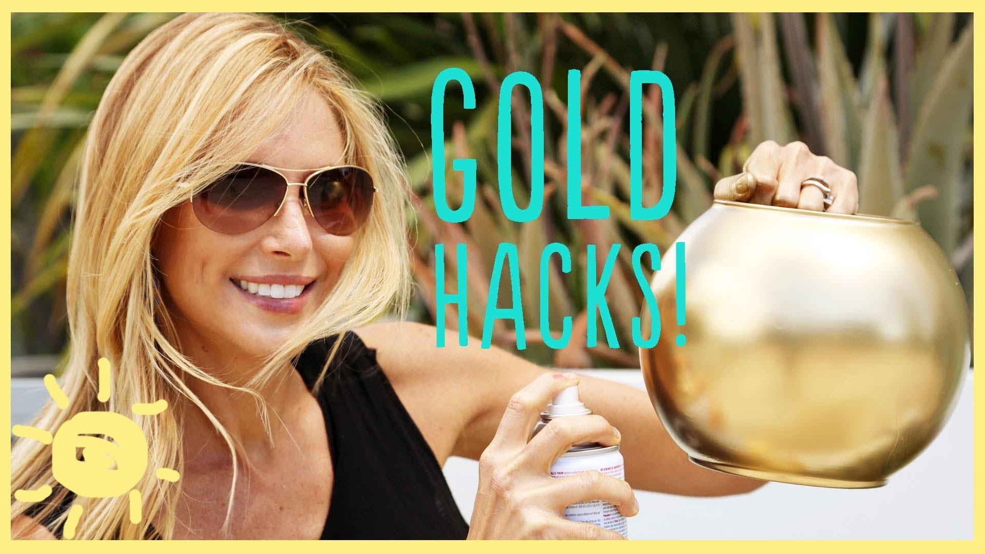 DIY | 3 GOLD SPRAY PAINT HACKS!