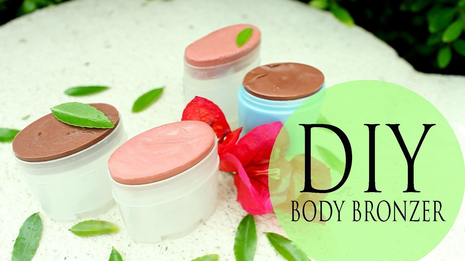 DIY Body Bronzer & Cheek Stain - How to Make Easy Summer Moisturizer by ANNEORSHINE