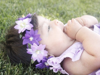 DIY Flower Headband Tutorial - flower leis - Baby