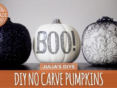 DIY No Carve Lace & Glitter Pumpkins - HGTV Handmade