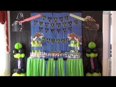 DIY starwars birthday VS Godzilla birthday party ideas 2 in 1