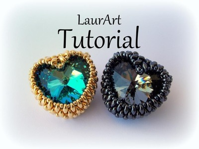 DIY TUTORIAL: COME INCASTONARE CUORE 28 MM | How to bezel 28 mm heart SUPERDUO.TWIN BEADS