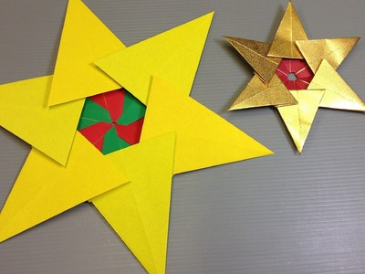 Easy Origami Christmas Tree Star
