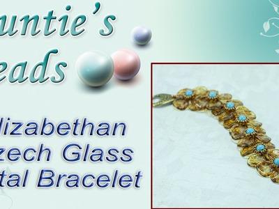 Elizabethan Czech Glass Petal Bracelet - Karla Kam