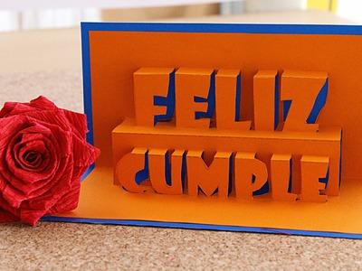 Feliz Cumpleaños Tarjeta Pop-Up 3D. happy Birthday - Remake