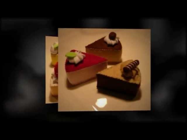 "Felt Crafts - Felt Food D.I.Y Wedge Cake Kit #1 (from the ""Felt Cuisine"" series)"