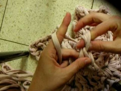 Finger Crochet a rag- line 4 section 5.6