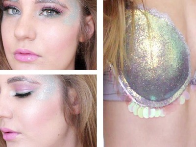 Halloween Tutorial: Pretty Mermaid (plus DIY shell bra!)