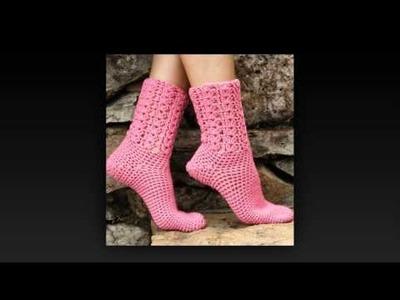 How to crochet knee high socks