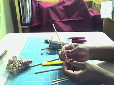 How to Make a Home Made Paper Bead Roller.Tool