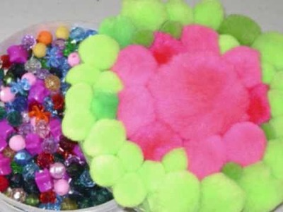 How to make a recycled pompom decorative box - EP