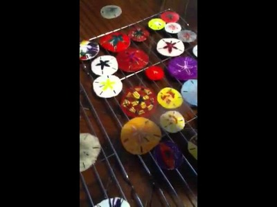 How to make christmas ornaments from sand dollar kids craft