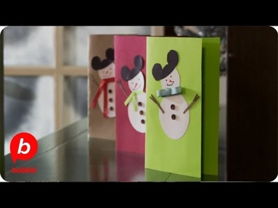 How to Make Mickey Mouse Christmas Snowmen Cards | Crafts | Babble