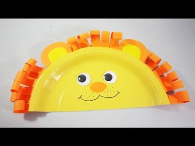 How to make paper plate lion - EP