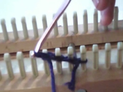 How To Use a Knitting Loom : Step 1 ( Casting on the Yarn )
