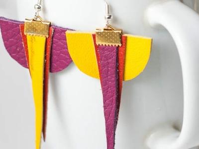 Make a Pair of Asymmetrical Earrings - DIY Style - Guidecentral