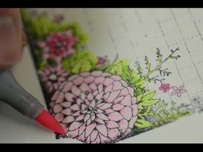 Memory Box Paper Rose Card