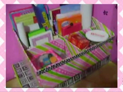 Organizador y materiales de scrapbook