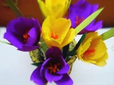 Paper flower - Crocus