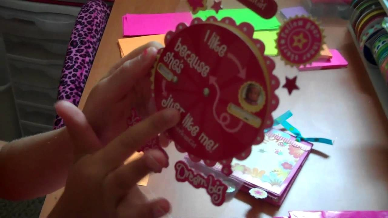 Part 1: How to make an American Girl paperbag scrapbook