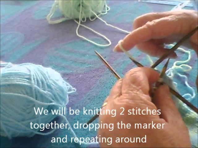 Part 5 - How to use Double Point Needles to complete your knit hat.wmv