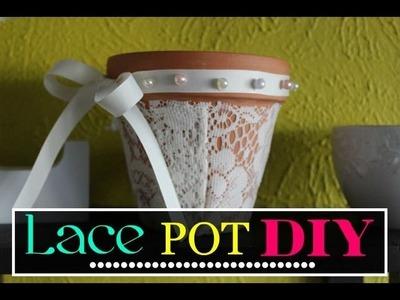 Pixie DIY :: Lace Flower Pots