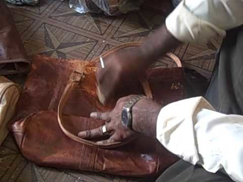 Purchasing a camel leather bag